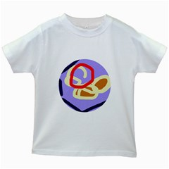 Abstract circle Kids White T-Shirts