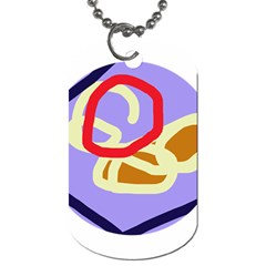 Abstract circle Dog Tag (One Side)