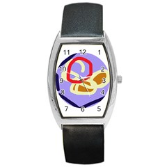Abstract circle Barrel Style Metal Watch