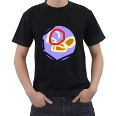 Abstract circle Men s T-Shirt (Black) (Two Sided)