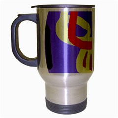 Abstract circle Travel Mug (Silver Gray)