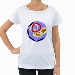 Abstract circle Women s Loose-Fit T-Shirt (White)