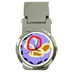Abstract circle Money Clip Watches