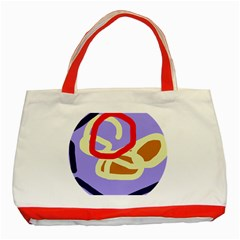 Abstract circle Classic Tote Bag (Red)