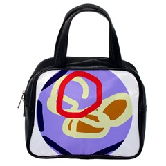 Abstract circle Classic Handbags (One Side)