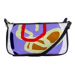 Abstract circle Shoulder Clutch Bags