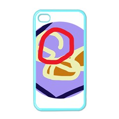 Abstract circle Apple iPhone 4 Case (Color)