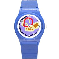 Abstract circle Round Plastic Sport Watch (S)