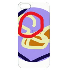 Abstract circle Apple iPhone 5 Hardshell Case with Stand