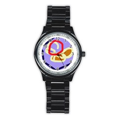 Abstract circle Stainless Steel Round Watch