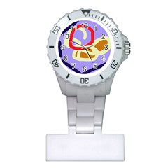 Abstract circle Plastic Nurses Watch
