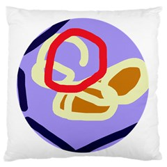 Abstract circle Large Flano Cushion Case (One Side)