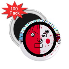 Angry transparent face 2.25  Magnets (100 pack)