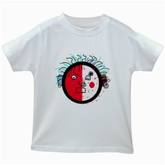 Angry transparent face Kids White T-Shirts