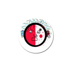 Angry transparent face Golf Ball Marker (4 pack)
