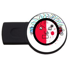 Angry transparent face USB Flash Drive Round (2 GB)