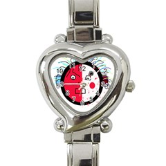 Angry transparent face Heart Italian Charm Watch