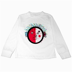 Angry transparent face Kids Long Sleeve T-Shirts