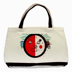 Angry transparent face Basic Tote Bag