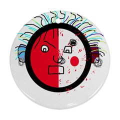Angry transparent face Round Ornament (Two Sides)