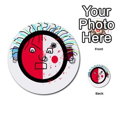 Angry transparent face Multi-purpose Cards (Round)