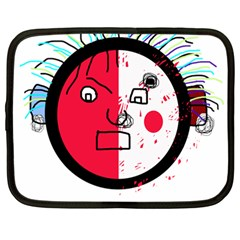 Angry transparent face Netbook Case (Large)
