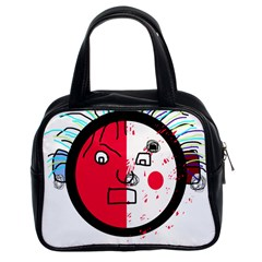 Angry transparent face Classic Handbags (2 Sides)