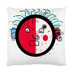 Angry transparent face Standard Cushion Case (Two Sides)