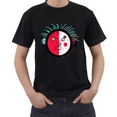 Angry transparent face Men s T-Shirt (Black)