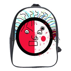 Angry transparent face School Bags(Large)