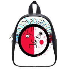 Angry transparent face School Bags (Small)