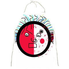 Angry transparent face Full Print Aprons