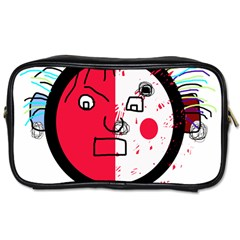 Angry transparent face Toiletries Bags