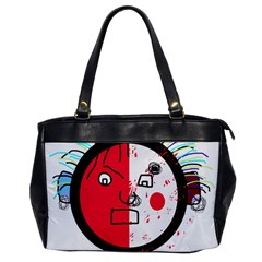 Angry transparent face Office Handbags