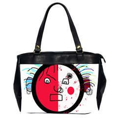 Angry transparent face Office Handbags (2 Sides)