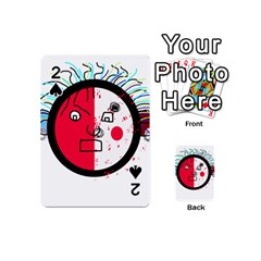 Angry transparent face Playing Cards 54 (Mini)