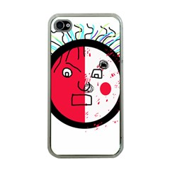 Angry transparent face Apple iPhone 4 Case (Clear)