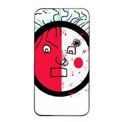 Angry transparent face Apple iPhone 4/4s Seamless Case (Black)