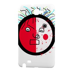 Angry transparent face Samsung Galaxy Note 1 Hardshell Case