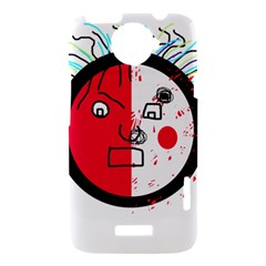 Angry transparent face HTC One X Hardshell Case