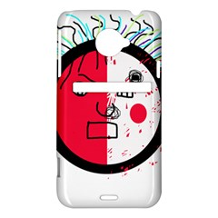Angry transparent face HTC Evo 4G LTE Hardshell Case