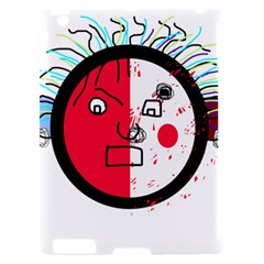 Angry transparent face Apple iPad 2 Hardshell Case (Compatible with Smart Cover)