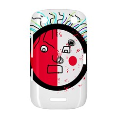 Angry transparent face BlackBerry Curve 9380