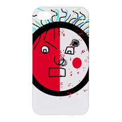 Angry transparent face Apple iPhone 4/4S Premium Hardshell Case