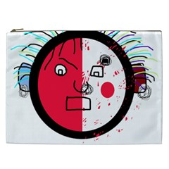 Angry transparent face Cosmetic Bag (XXL)