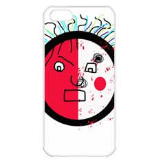 Angry transparent face Apple iPhone 5 Seamless Case (White)