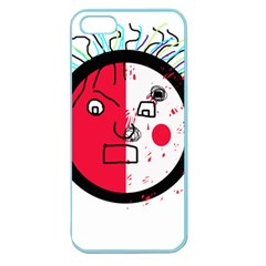 Angry transparent face Apple Seamless iPhone 5 Case (Color)