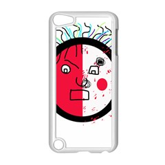 Angry transparent face Apple iPod Touch 5 Case (White)