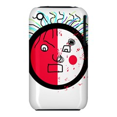 Angry transparent face Apple iPhone 3G/3GS Hardshell Case (PC+Silicone)