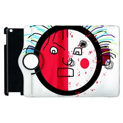 Angry transparent face Apple iPad 3/4 Flip 360 Case